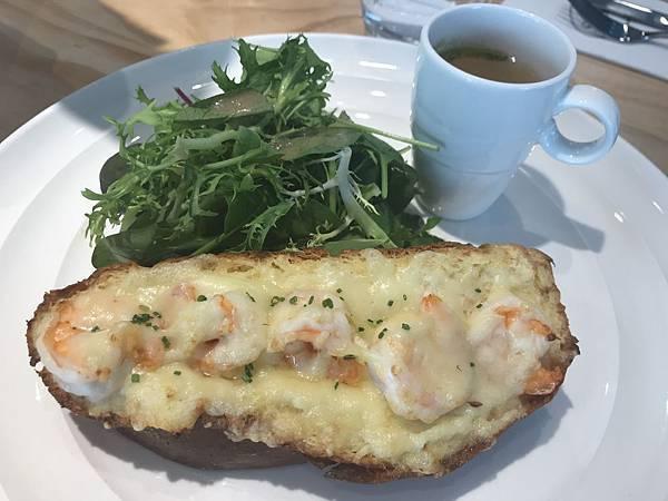 蟹肉起士法式土司,320
