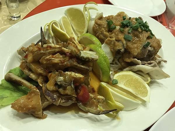 高梁嗆蟹&蒜泥白肉