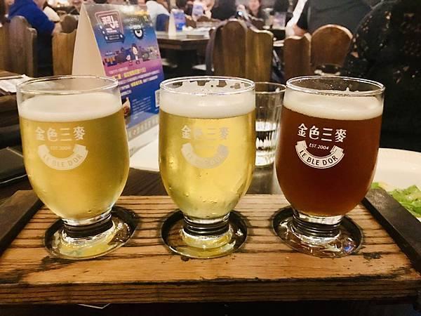 現釀啤酒組合(蜂蜜啤酒、桂花小麥啤酒、黑麥啤酒)280元