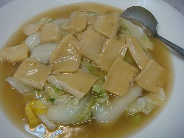 鮑魚片燴白菜