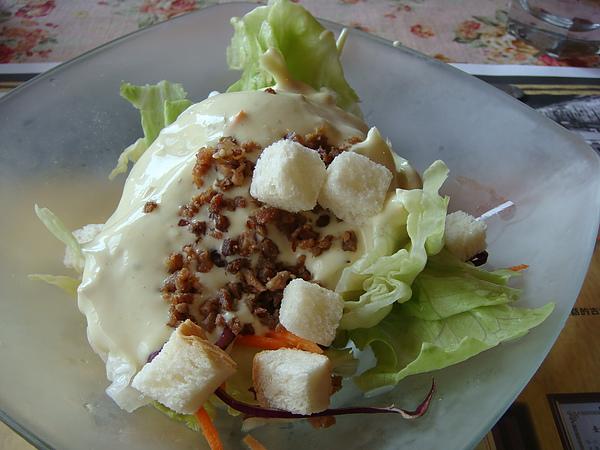 生菜沙拉(凱撒醬)
