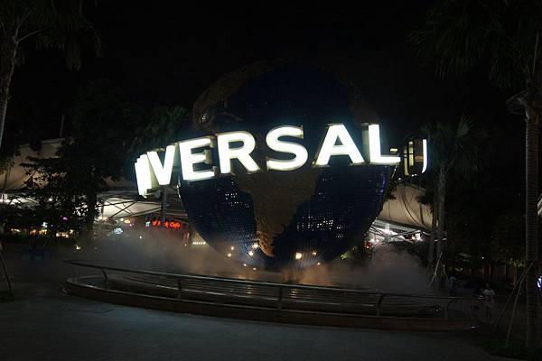 新加坡環球影城夜景地球
