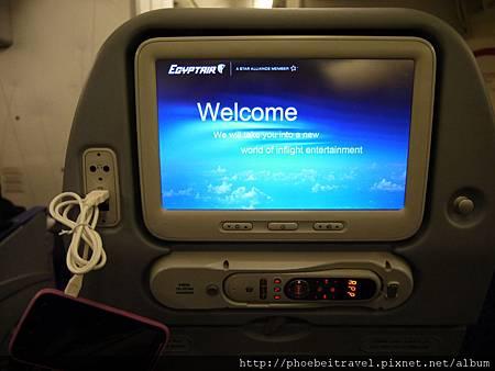 埃及航空上面有USB充電~真主阿拉真是眷顧我們