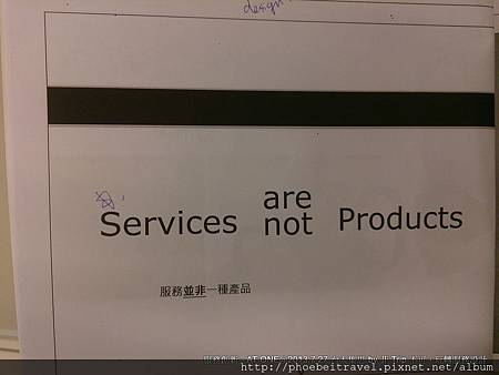 Service are not Products