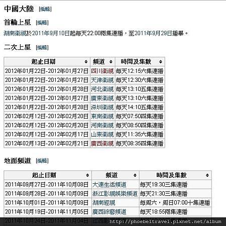2013-播出時間-維基百科