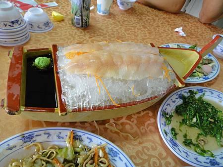 鱒魚生魚片