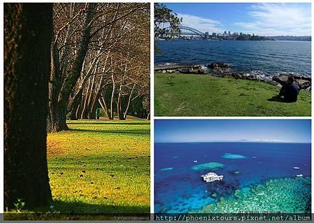 【一起來去澳洲吧】 暢遊最美麗的海港城市,,在花園城市漫步,最後從最浪漫的島嶼離開時,只帶著滿滿的幸福與不捨。 我們約好,還要再見唷。  ♥ 7/9出發>>鳳凰 東澳大堡礁 全覽10天