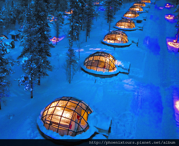 Igloos view from air Kakslauttanen TIFF