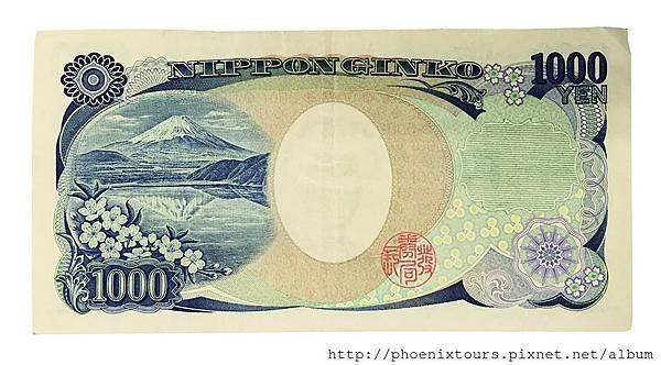 一千元紙幣上的本栖湖