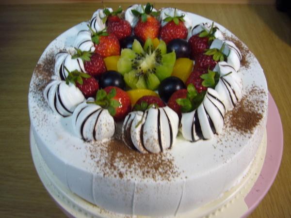 97.1.20老爸生日蛋糕(多撒可可粉)