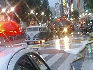渋谷著火的車子