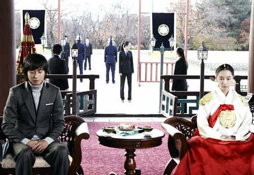 《宮》皇上皇后與皇太子夫婦吟詩作樂那場戲