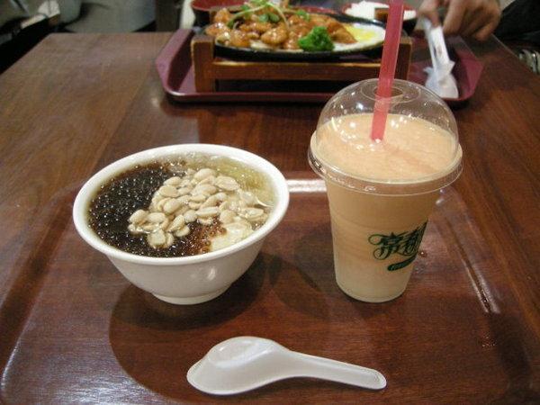 2007年10月台灣行之台北101的豆花和木瓜牛奶 071031