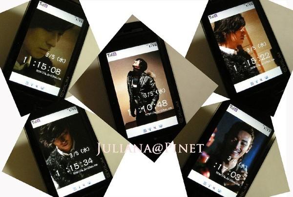 五種手機的待機畫面