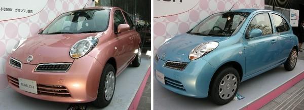 獎品是一台March的車,那台櫻花色的好可愛唷!