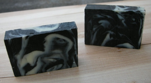 No.20 ☆ Black and White Snowflake Balanced Soap-081204-3