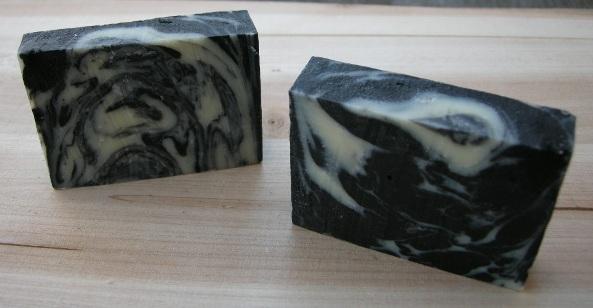 No.20 ☆ Black and White Snowflake Balanced Soap-081204-4