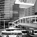 20100319-6 品川車站外面-到東京入管的公車之黑白版