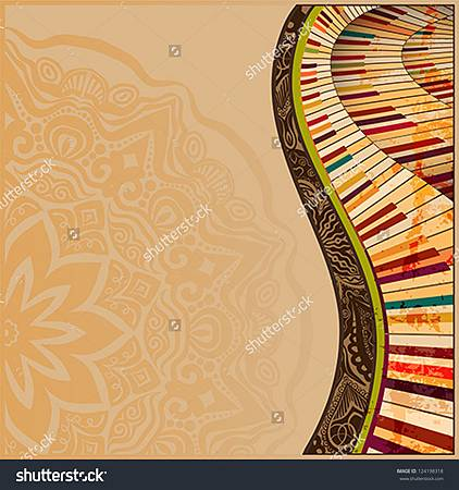 stock-vector--musical-background-with-abstract-grudge-piano-keyboard-and-creative-design-elements-124198318