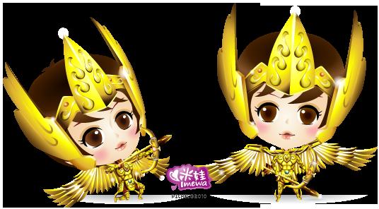 黃金聖鬥士-射手座(弓箭+側身)