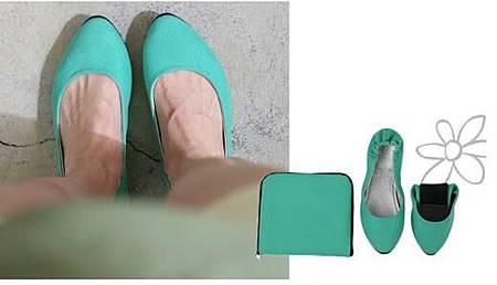 摺疊平底-綠