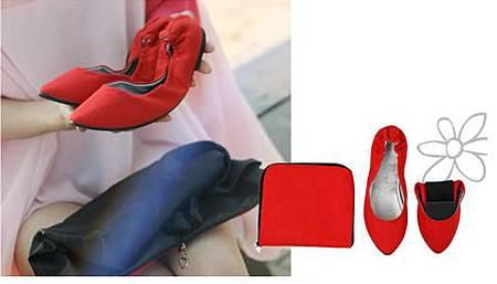 摺疊平底-紅