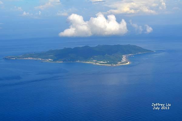 07/15 飛抵台東前之驚喜,綠島竟在眼前!