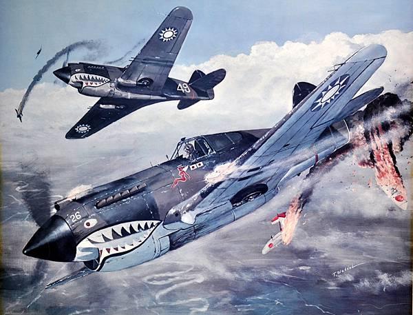 P-40 Flying artwork I bought (4)