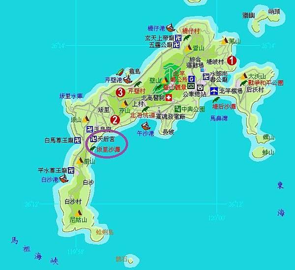 北竿完整地圖(天后宮)