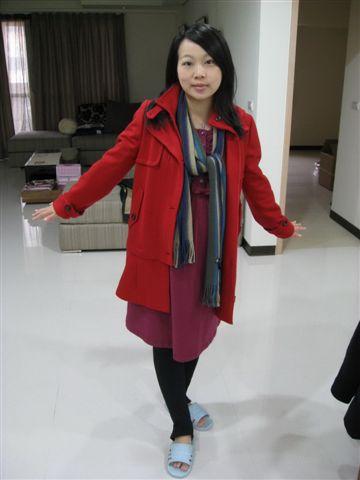 2009.12.25 耶誕新外套..整個就很正!