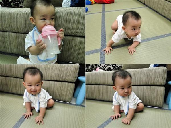 2010.08.13 看我邊喝水邊拉筋劈腿01.jpg