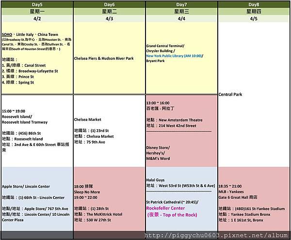 MsBBQ 16日 行程規畫