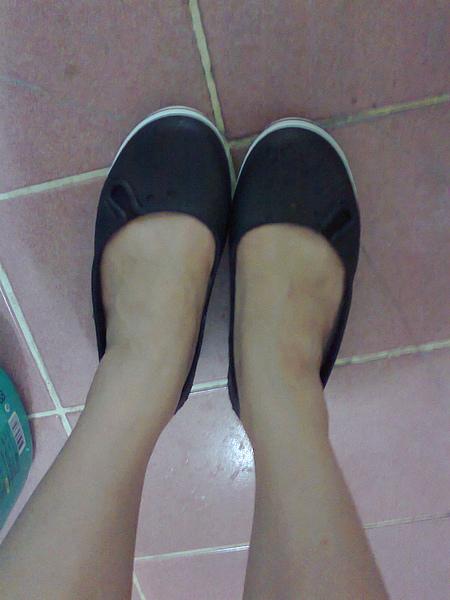 新買的鱷魚鞋