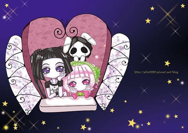 紫蘿蘭-珂蘿芙-死神兔-仰望星夜