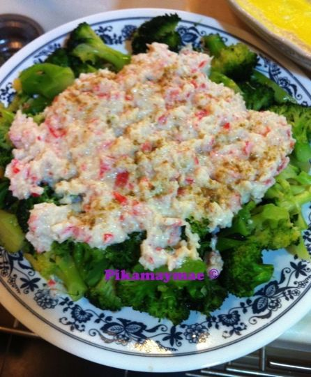 broccoli and crabmeat