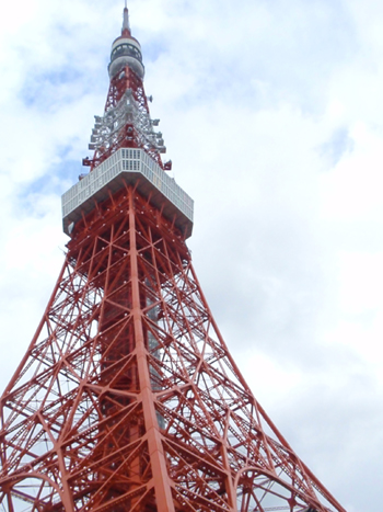 Lower shot up on Toyko Tower.jpg