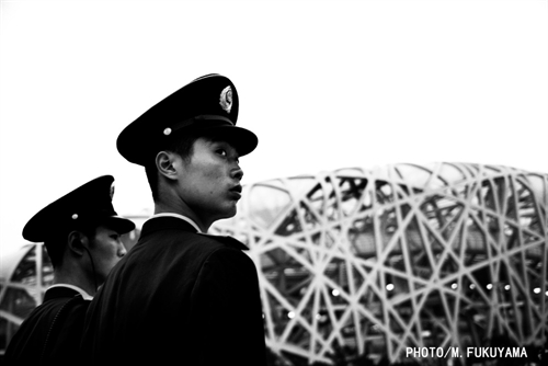 Young Solider outside the Bird Nest.jpg