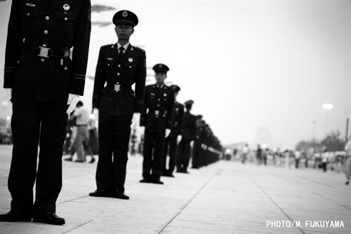 Young Soliders pile up outside the Bird Nest.jpg