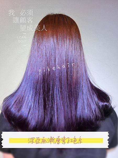 深亞麻漸層紫色❤