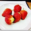 現摘的草莓