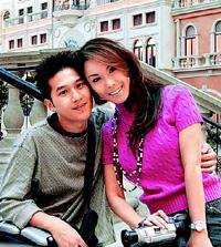 利菁與小她14歲念哲學系的許育仁結婚.jpg