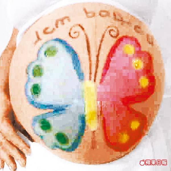 花蝴蝶八個多月 大肚皮畫蝶-2.jpg