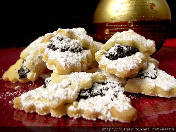 罌粟花種子的花荷包餅乾