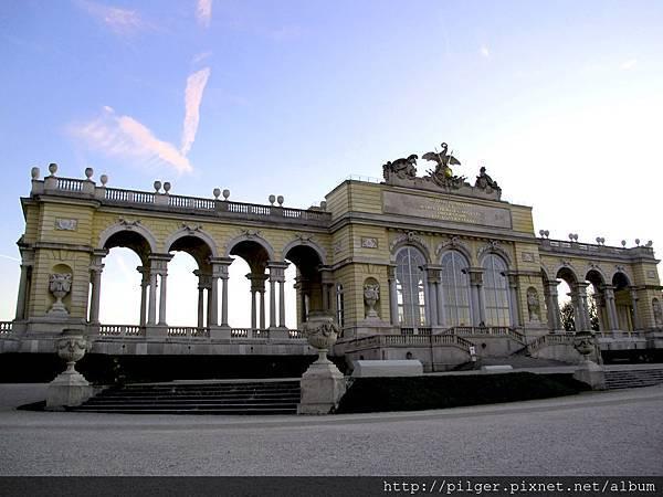 [維也納]美泉宮的春晚落霞