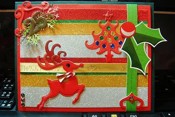 20121108包裝紙再利用之聖誕卡