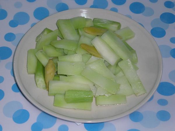 炒花椰菜莖