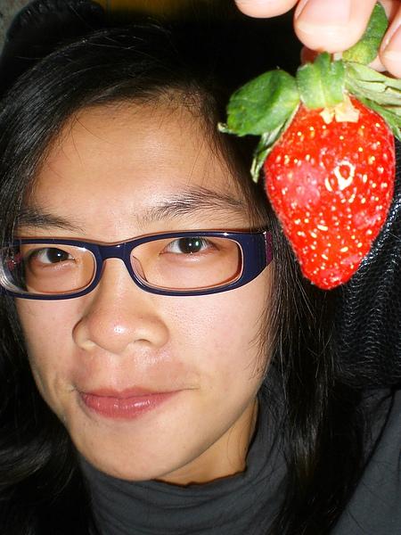 草莓好甜!