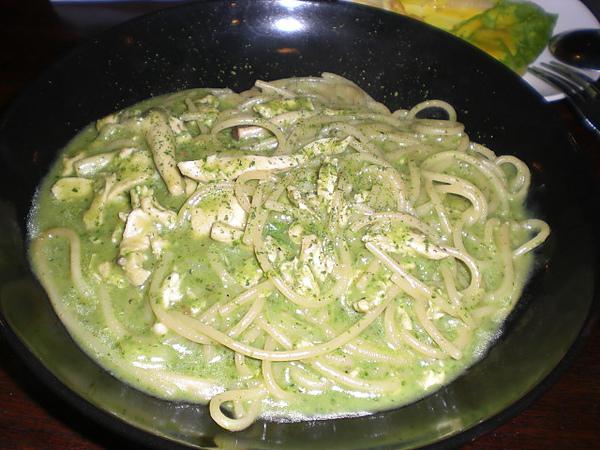 普羅焗烤─青醬雞肉義大利麵
