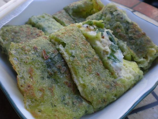 綠的森林─菠菜起士蛋餅