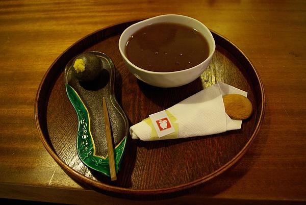 大理菊和紅豆湯.JPG